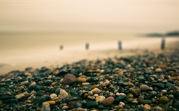 Beach Pebbles Autumn Mac wallpaper