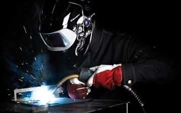 Electric welding Mac wallpaper