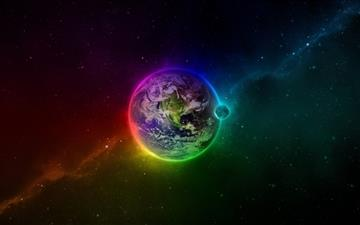 Colorful Earth Mac wallpaper
