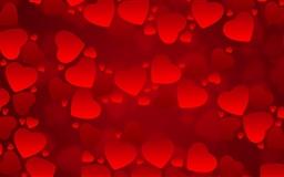 Valentine's  Day Red Hearts Mac wallpaper