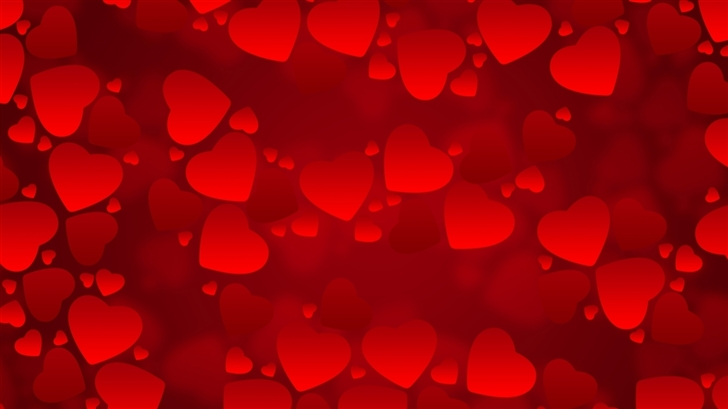 Valentines Day Red Hearts Mac Wallpaper