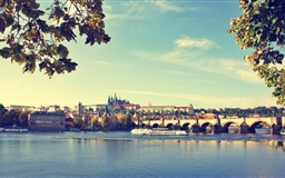 Prague Bridge Czech Republic Mac wallpaper