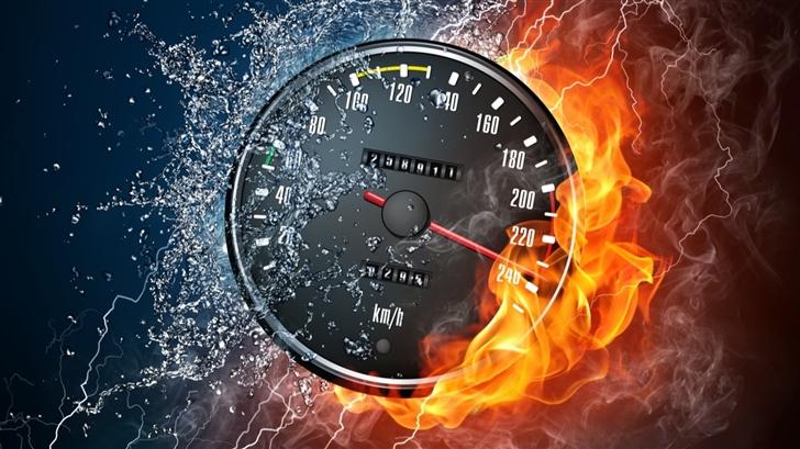 Speedometer Fast Mac Wallpaper
