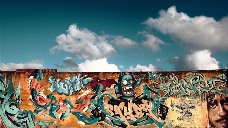 Graffiti Wall Art Mac Wallpaper