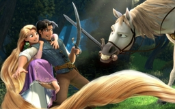 Tangled Rapunzel Flynn Maximus Mac wallpaper