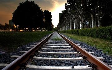 Railroad Track Mac wallpaper