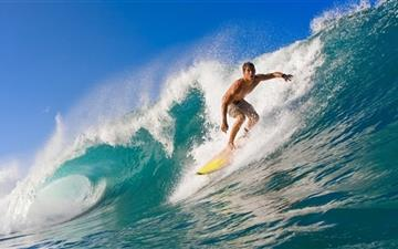 Surfer Riding A Wave Mac wallpaper