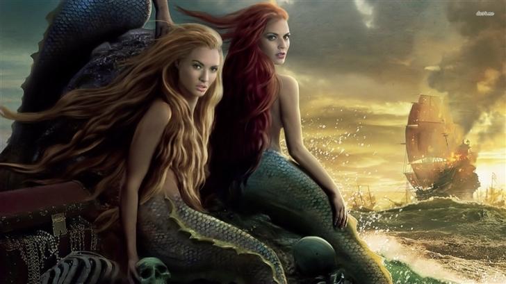 Mermaids Pirates of the Caribbean Mac Wallpaper