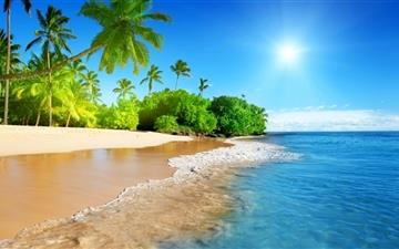 Beautiful beach Mac wallpaper