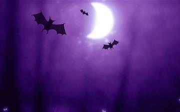 Bats Halloween Mac wallpaper