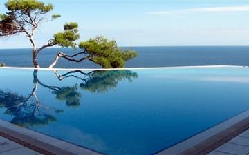 Open air pool Mac wallpaper