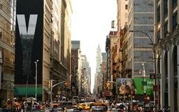 Bustling city Mac wallpaper