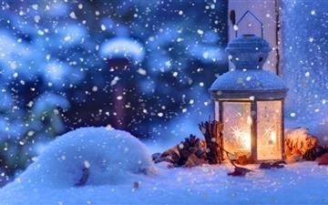 Warm winter Mac wallpaper