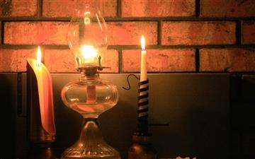 Warmly candlelight Mac wallpaper