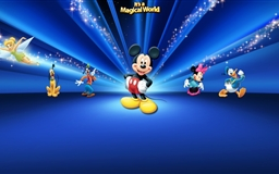 Disney  Characters Dark Blue
