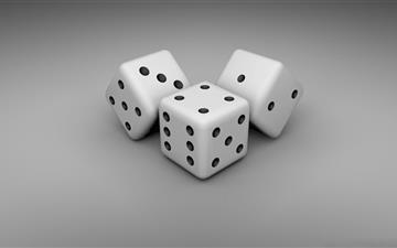 White Dice Mac wallpaper
