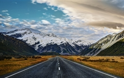 Road To Mount Cook Mac wallpaper