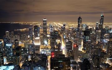 Chicago Skyline From John Hancock Mac wallpaper