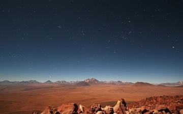 Starry Desert Sky Mac wallpaper