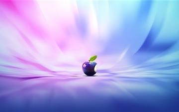 Purple Apple Mac wallpaper