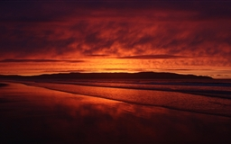 Red Sunset Beach Mac wallpaper