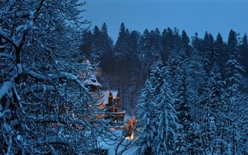 Peles Castle Romania Winter Mac wallpaper