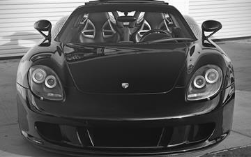 Black Porsche Carrera  Mac wallpaper