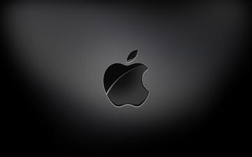 Aapple Black Background Mac wallpaper