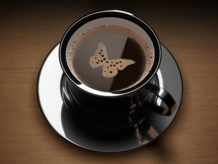 Butterfly Coffee Mac Wallpaper