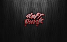 Daft Punk Logo Red Mac wallpaper