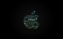 Apple Logo Typography Mac wallpaper
