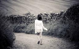 Girl Walking On Country Road Mac wallpaper