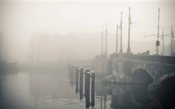 Misty Morning In Amsterdam Mac wallpaper