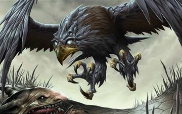Fantasy Hawk Mac wallpaper