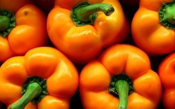Orange Peppers Mac wallpaper