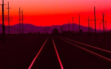 Railtracks At Dusk Mac wallpaper