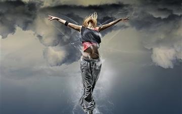 Fantasy Girl Flying Mac wallpaper