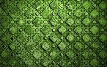 Green Squares Mac wallpaper