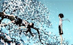 Blowing Wind Illustration Mac wallpaper