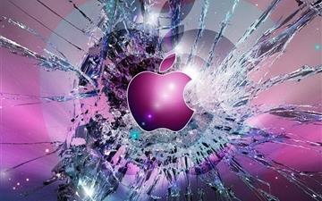Apple Logo Broken Glass Mac wallpaper