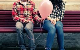 Happy Valentines Day Balloon Mac wallpaper