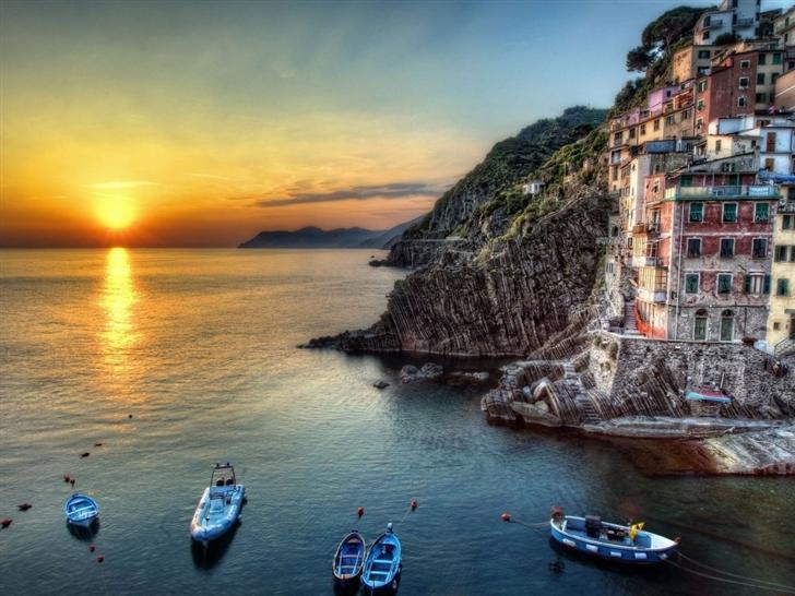 Riomaggiore Italy Mac Wallpaper