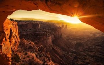 Canyonlands Cave Sunset Mac wallpaper