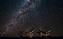 Satellite Array Night
