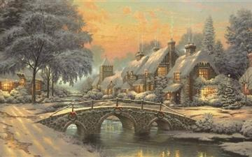 Classic Christmas Painting Mac wallpaper