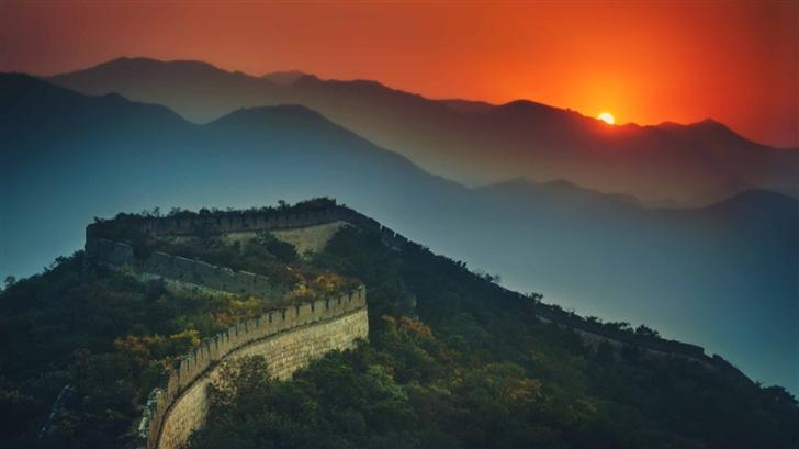 The Great Wall At Sunset Mac Wallpaper