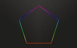 Pentagon Rainbow Mac wallpaper
