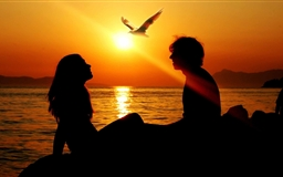 Romantic Couple Sunset