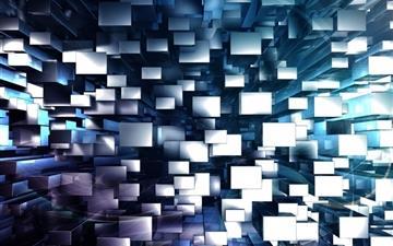 3D Geometric Background Mac wallpaper