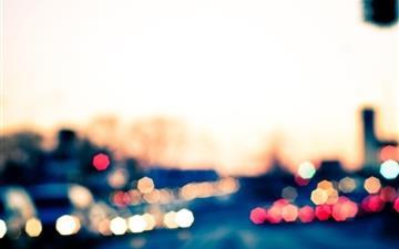 City Bokeh Lights Mac wallpaper